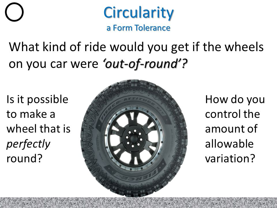 Circularity a Form Tolerance
