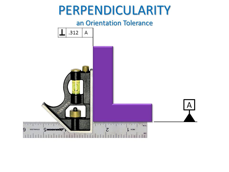PERPENDICULARITY an Orientation Tolerance
