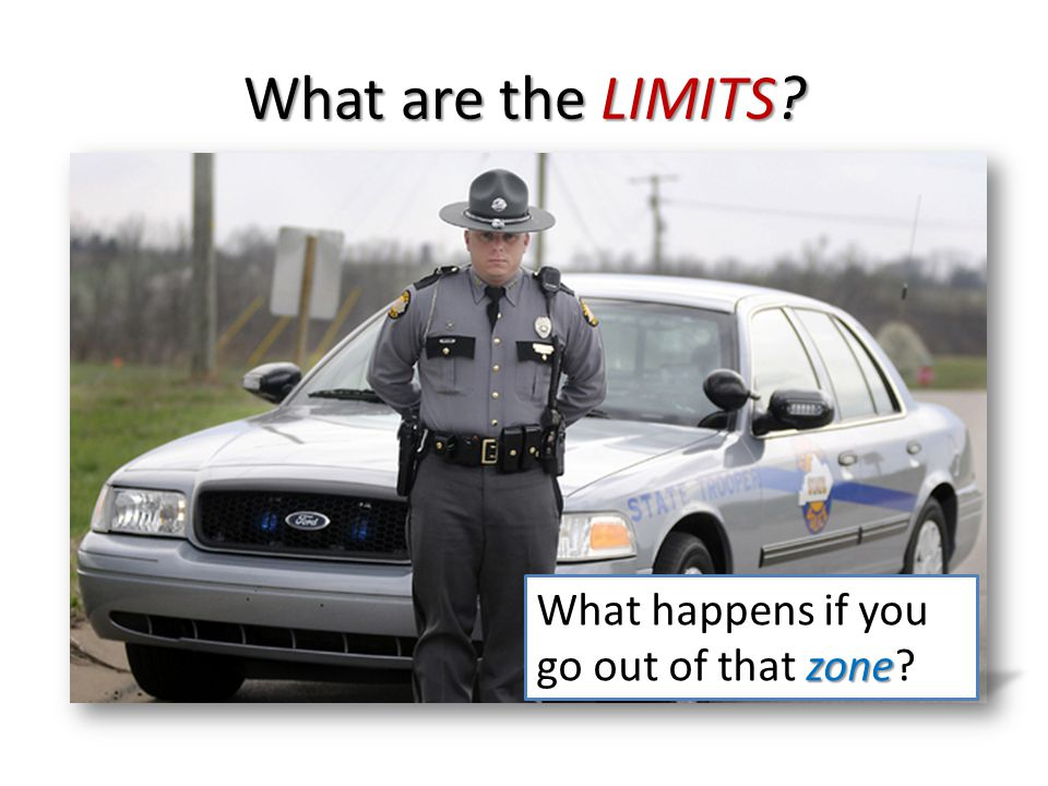 65 What are the LIMITS What happens if you go out of that zone