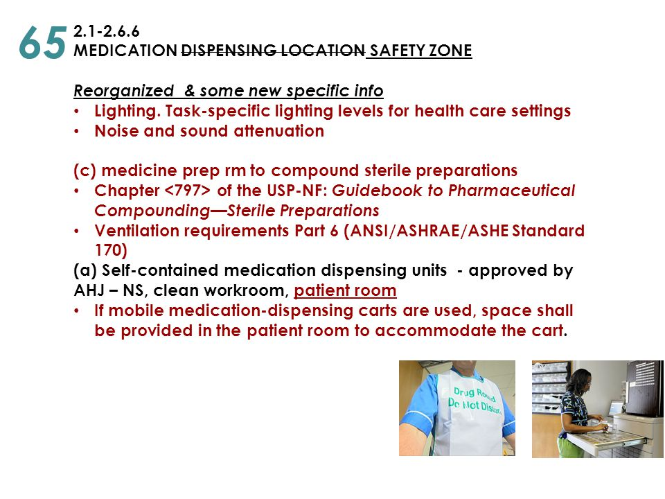 65 2.1-2.6.6 MEDICATION DISPENSING LOCATION SAFETY ZONE