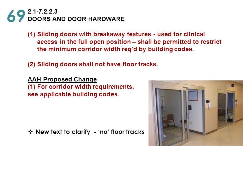 69 2.1-7.2.2.3 DOORS AND DOOR HARDWARE