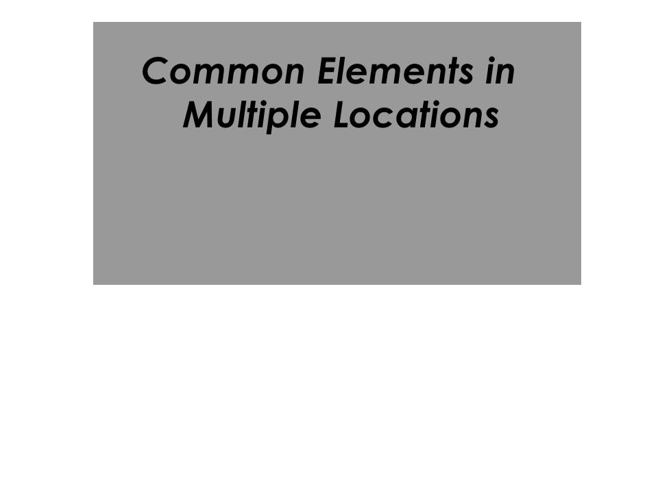 Common Elements in Multiple Locations