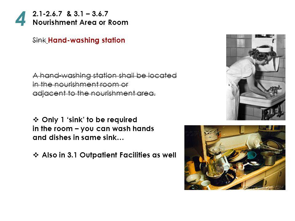 4 2.1-2.6.7 & 3.1 – 3.6.7 Nourishment Area or Room