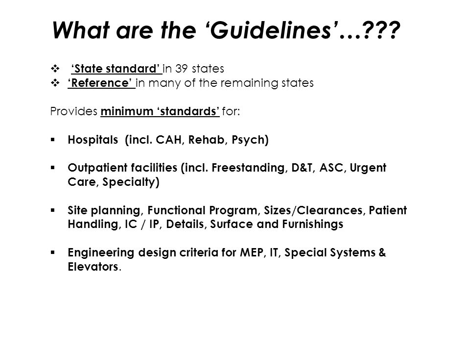 What are the 'Guidelines'…
