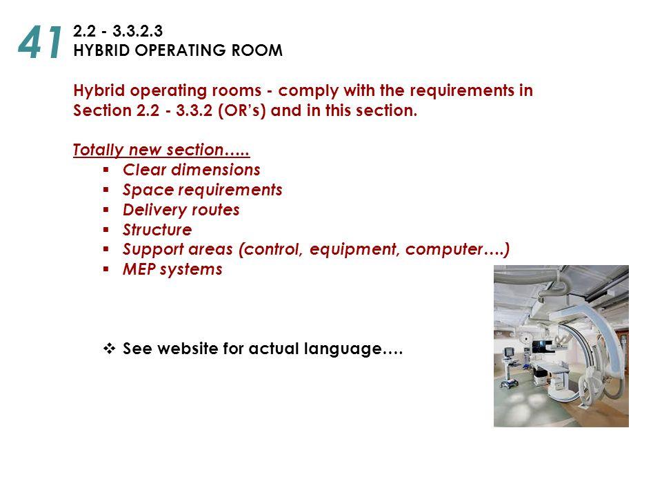 41 2.2 - 3.3.2.3 HYBRID OPERATING ROOM