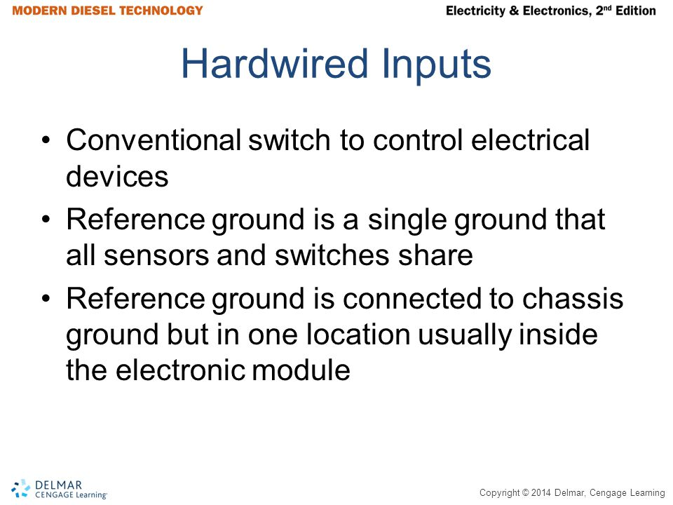 Hardwired Inputs Conventional switch to control electrical devices