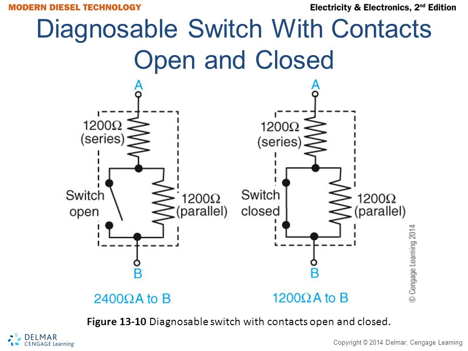 Diagnosable Switch With Contacts Open and Closed