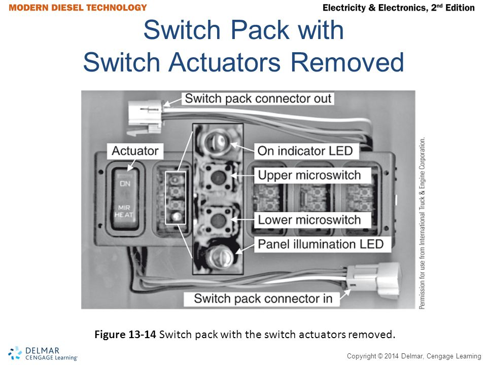 Switch Pack with Switch Actuators Removed