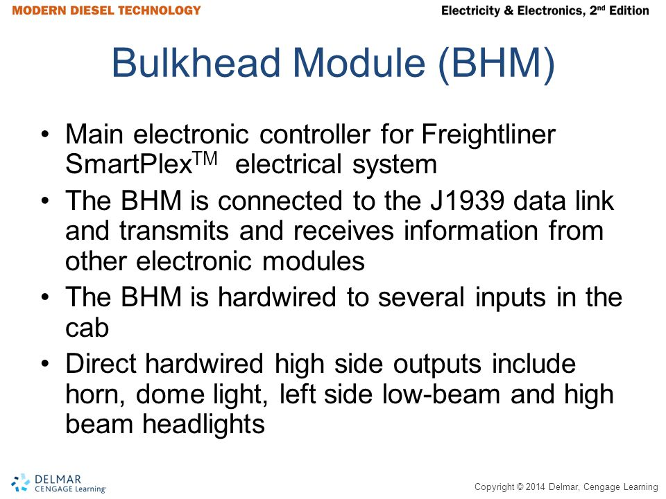 Bulkhead Module (BHM) Main electronic controller for Freightliner SmartPlexTM electrical system.