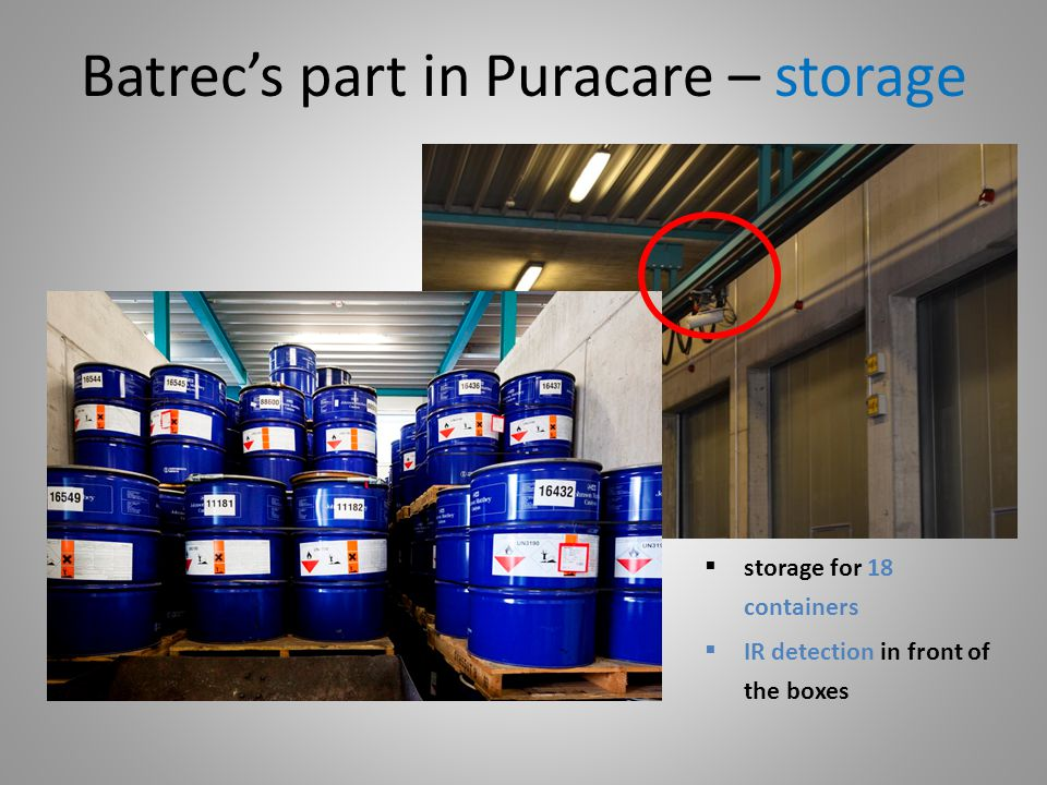 Batrec's part in Puracare – storage