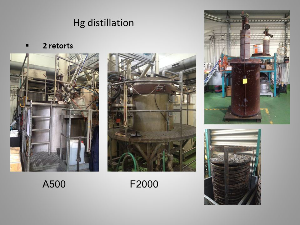 Hg distillation 2 retorts A500 F2000