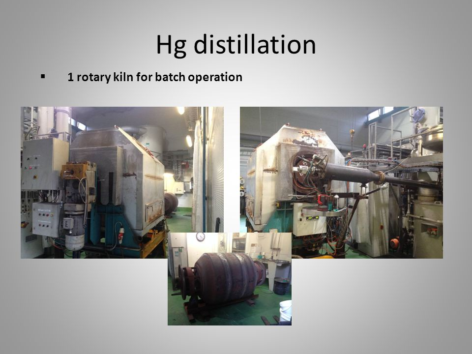 Hg distillation 1 rotary kiln for batch operation