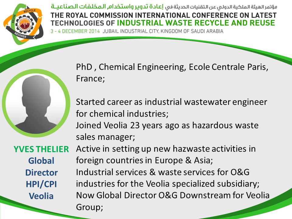 YVES THELIER Global Director HPI/CPI