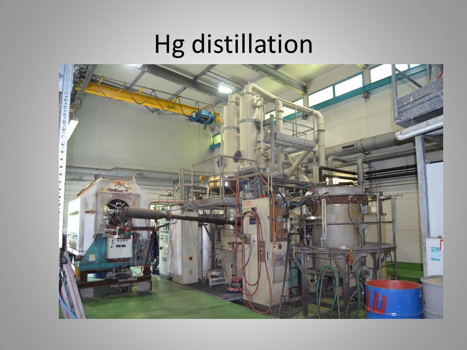 Hg distillation