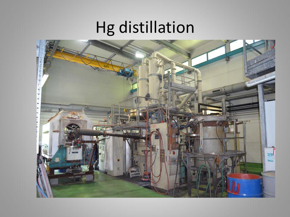Hg distillation