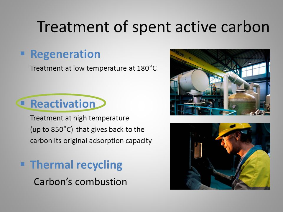 Treatment of spent active carbon