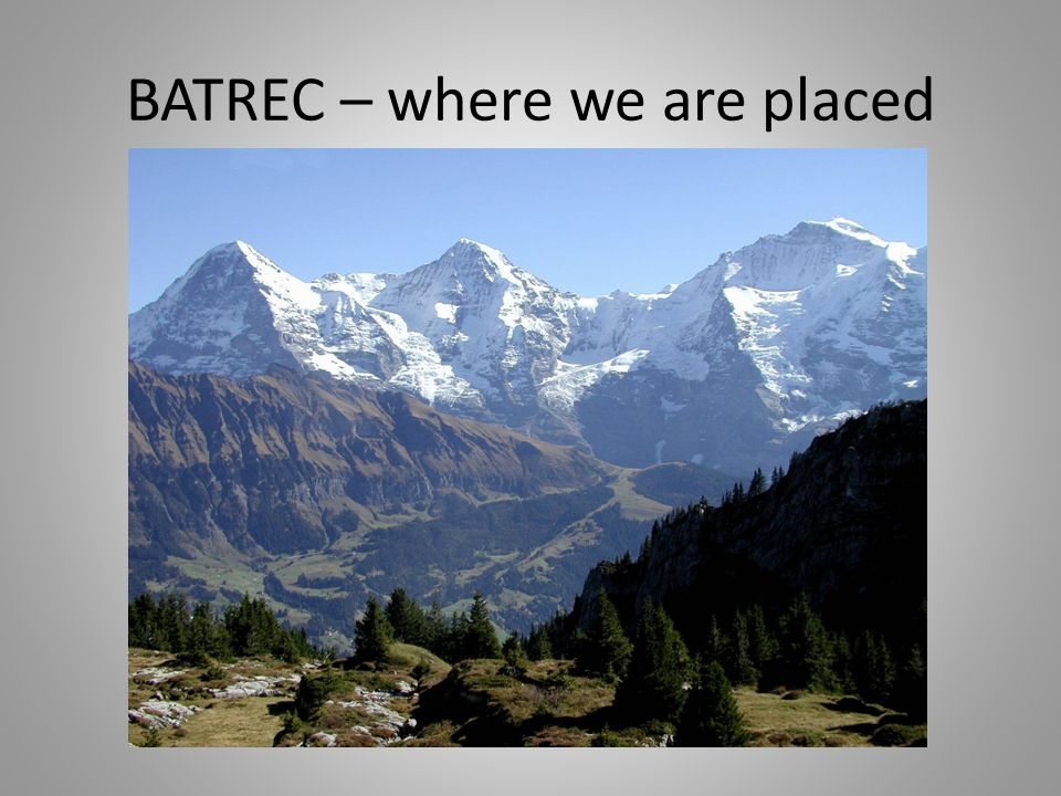 BATREC – where we are placed