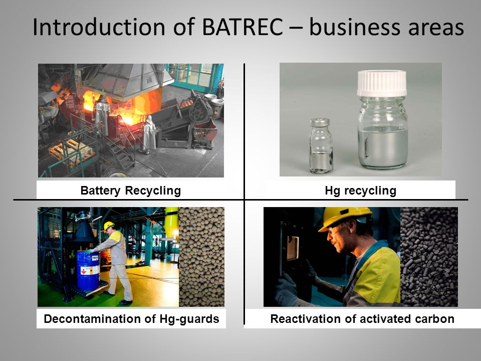 Introduction of BATREC – business areas