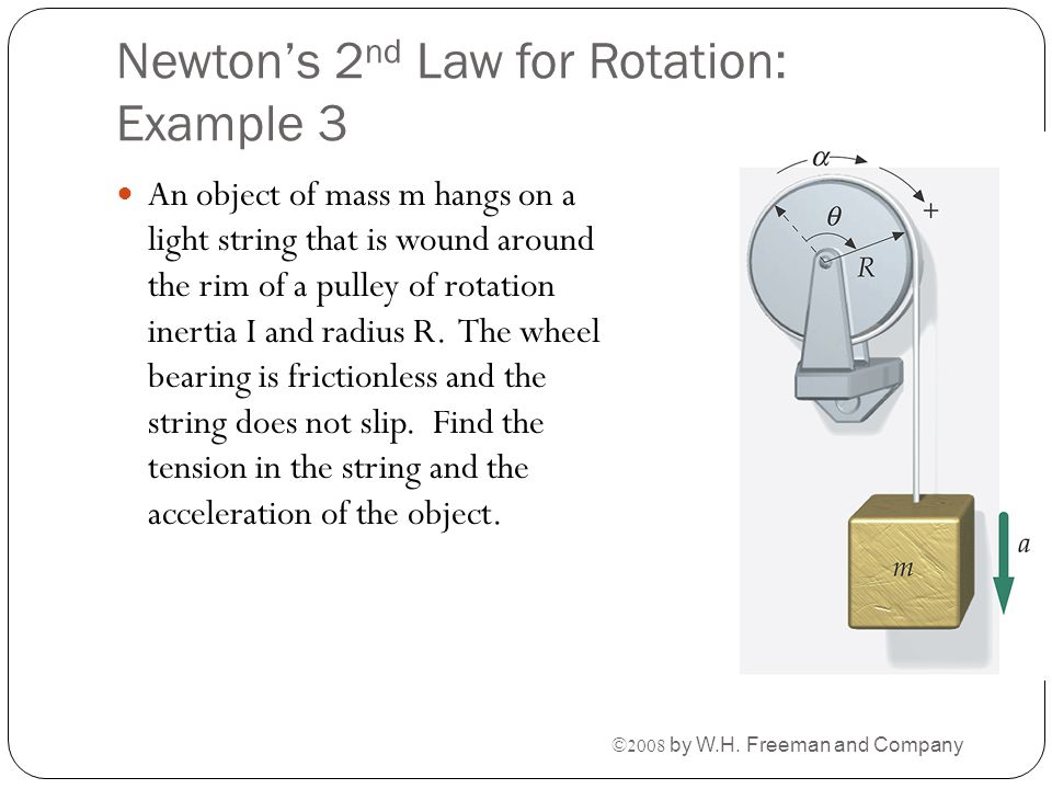 Newton's 2nd Law for Rotation: Example 3