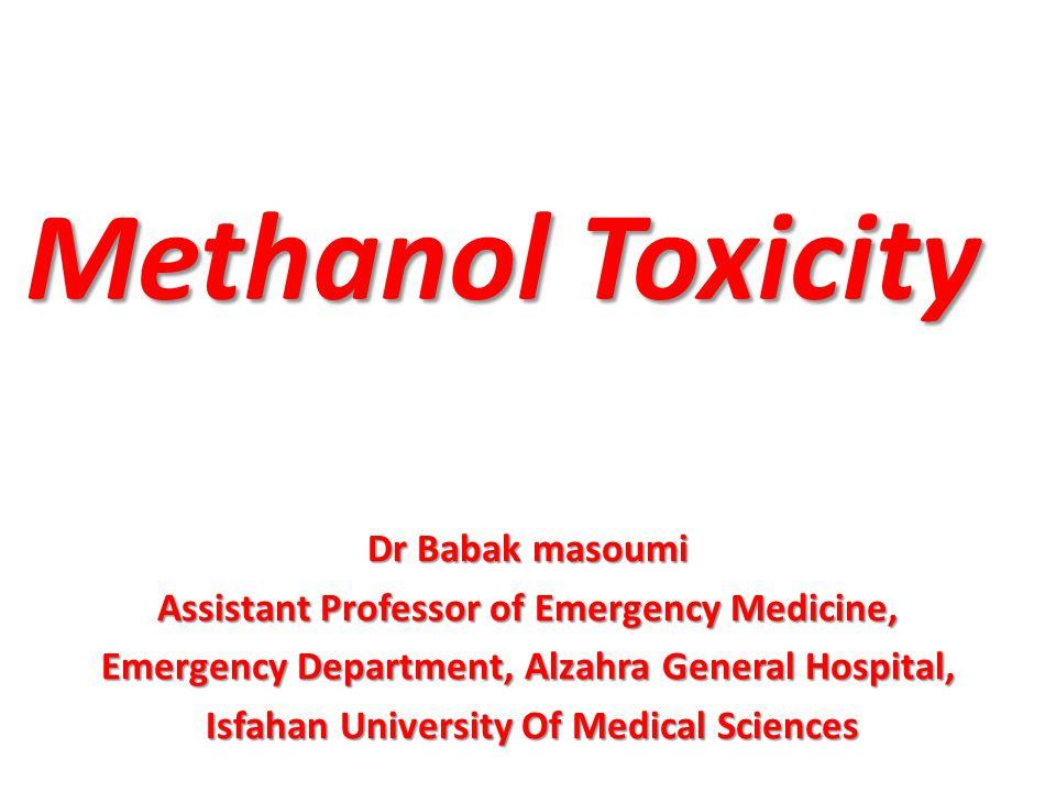 Methanol Toxicity Dr Babak masoumi