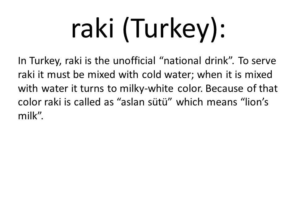 raki (Turkey):