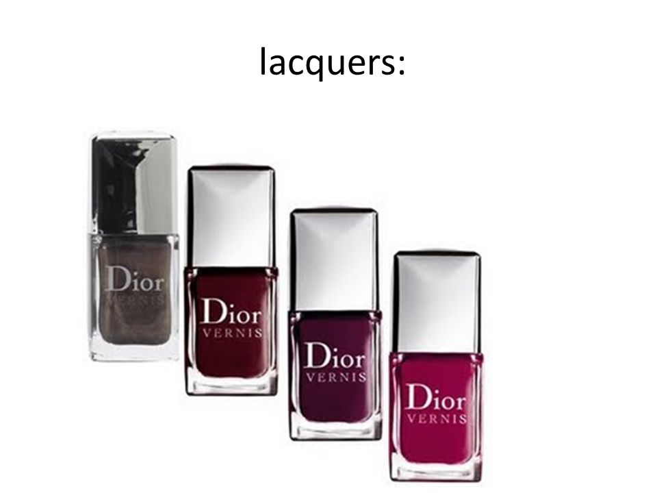 lacquers:
