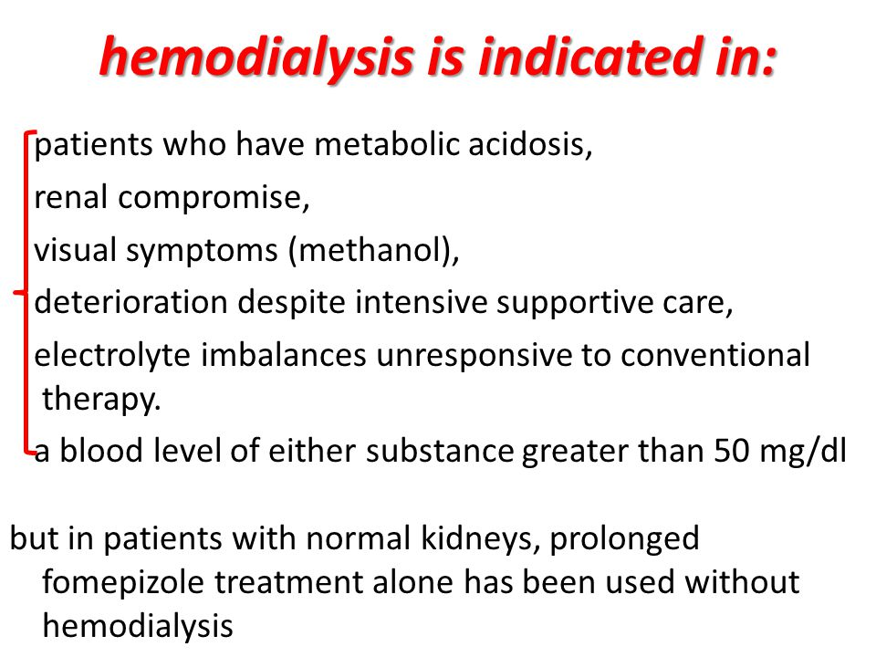 hemodialysis is indicated in: