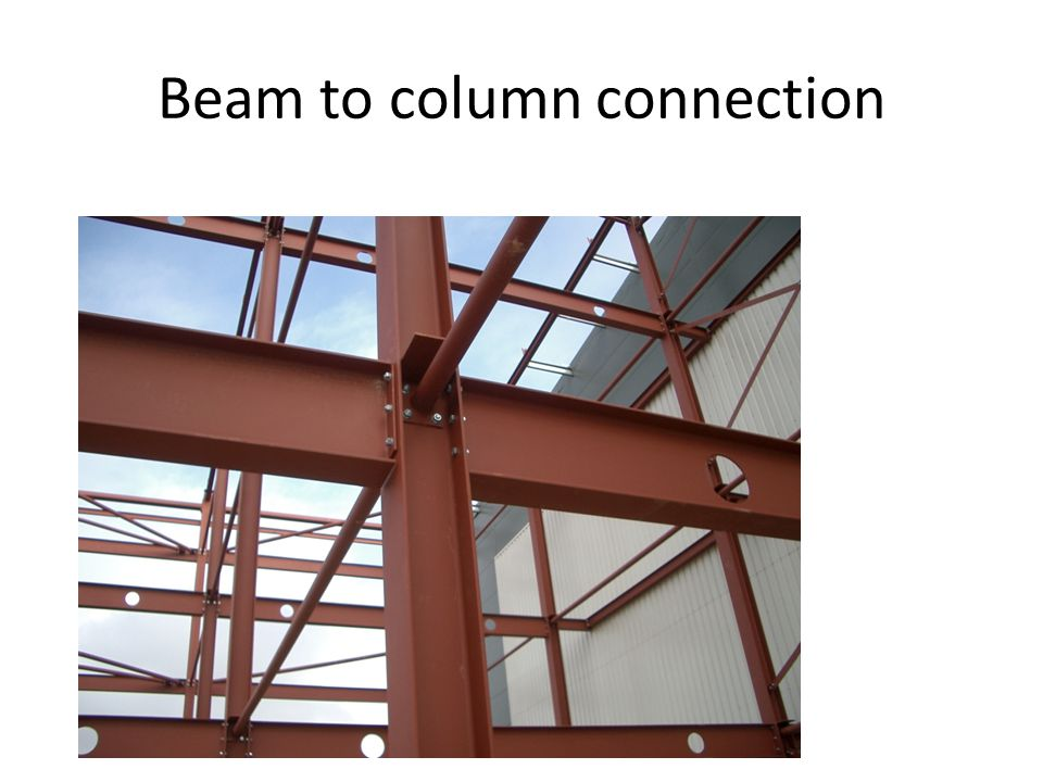 Beam to column connection