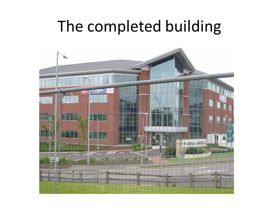 The completed building