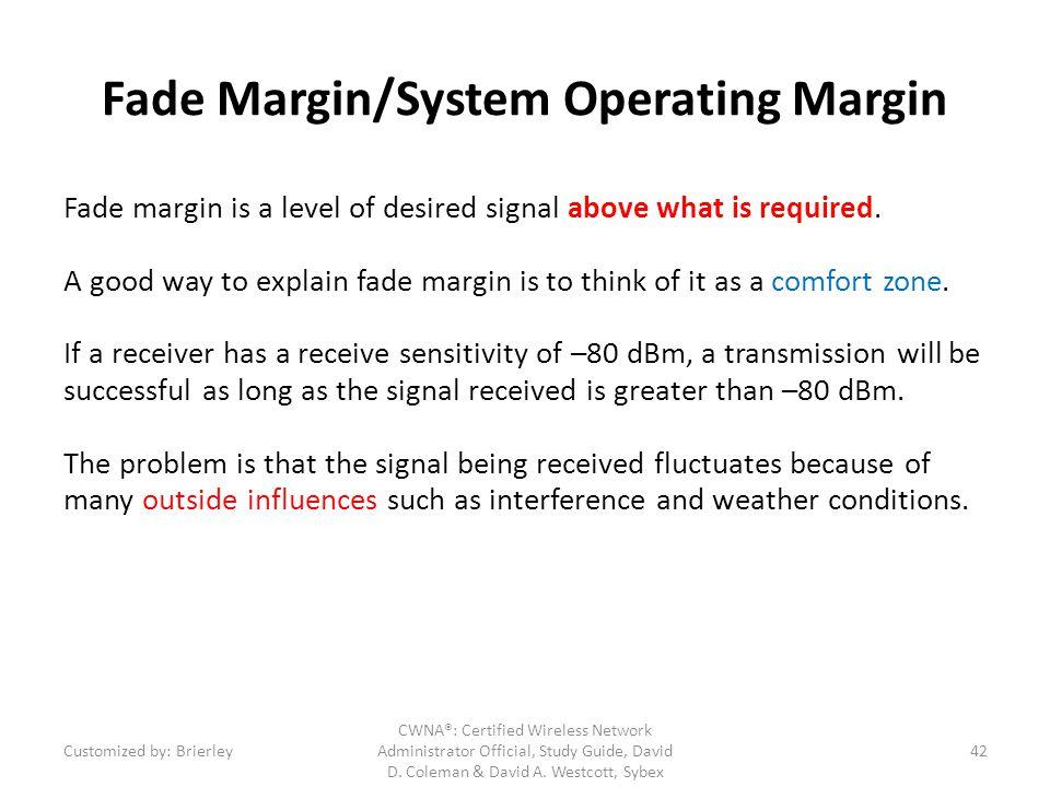 Fade Margin/System Operating Margin