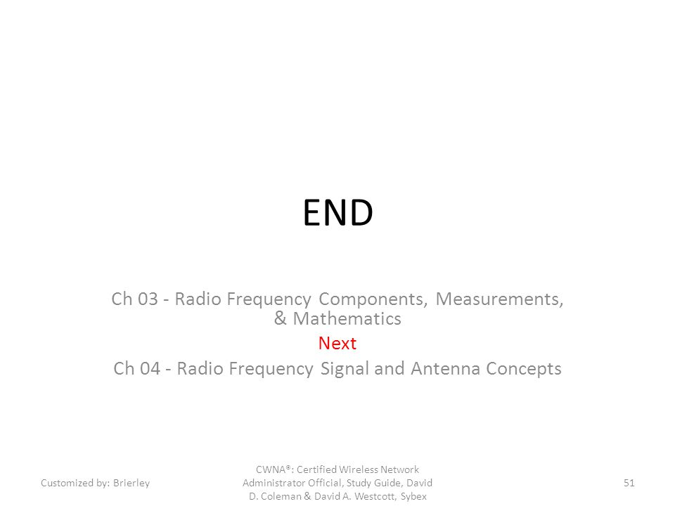 END Ch 03 - Radio Frequency Components, Measurements, & Mathematics