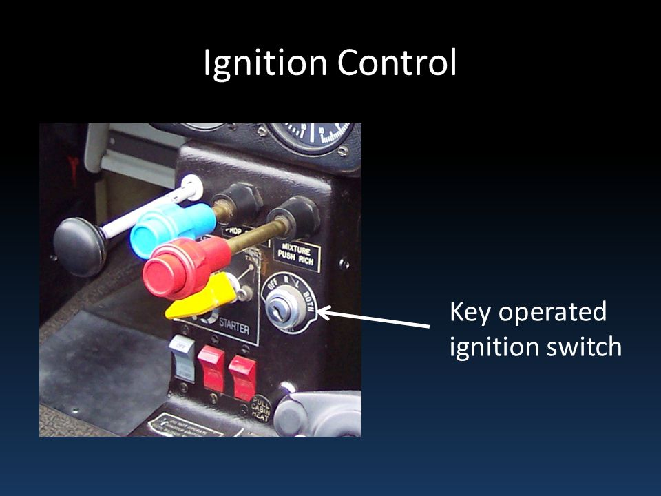 Ignition Control Key operated ignition switch