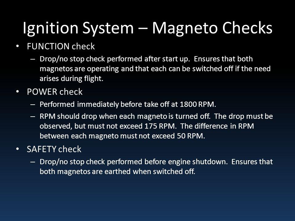 Ignition System – Magneto Checks