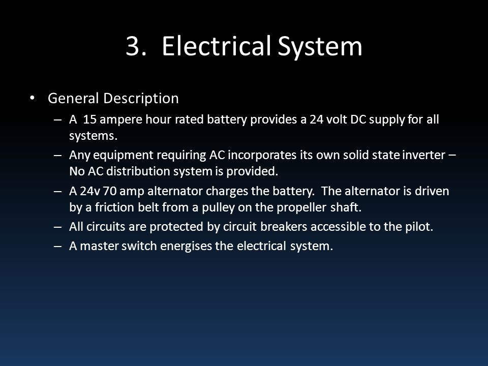 3. Electrical System General Description