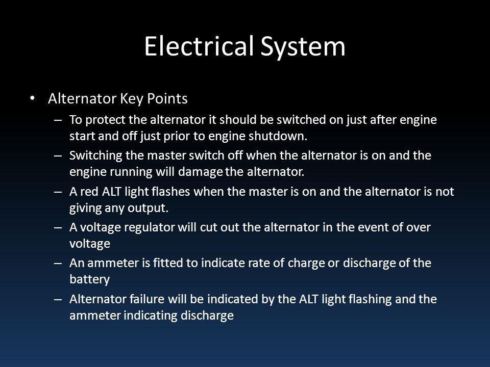 Electrical System Alternator Key Points