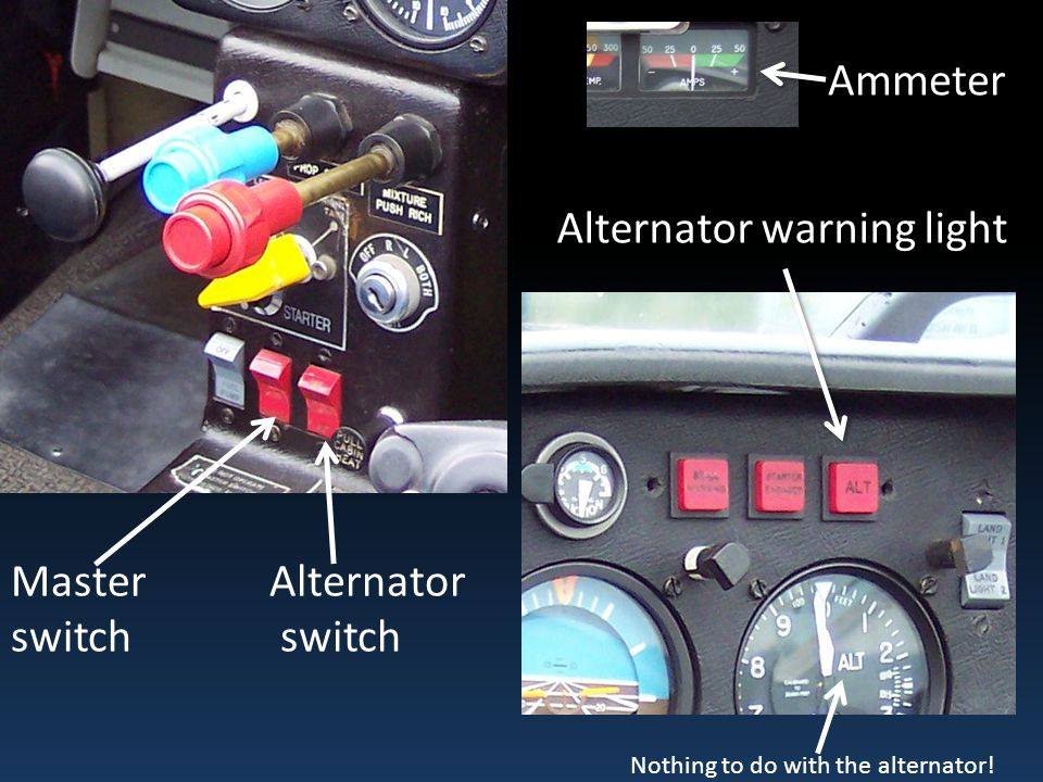 Alternator warning light