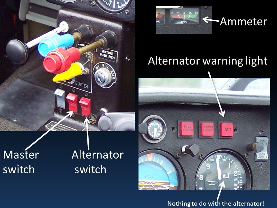 Alternator warning light