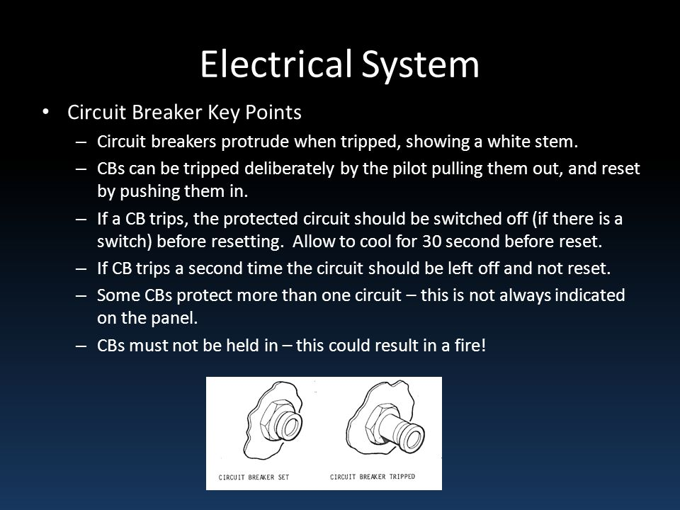 Electrical System Circuit Breaker Key Points