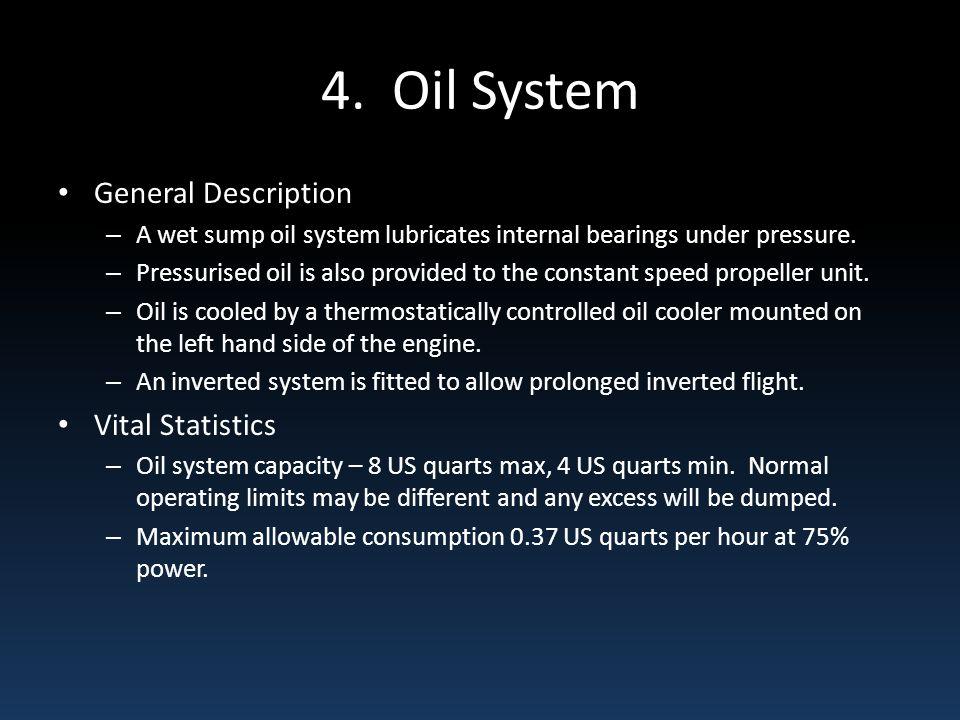 4. Oil System General Description Vital Statistics