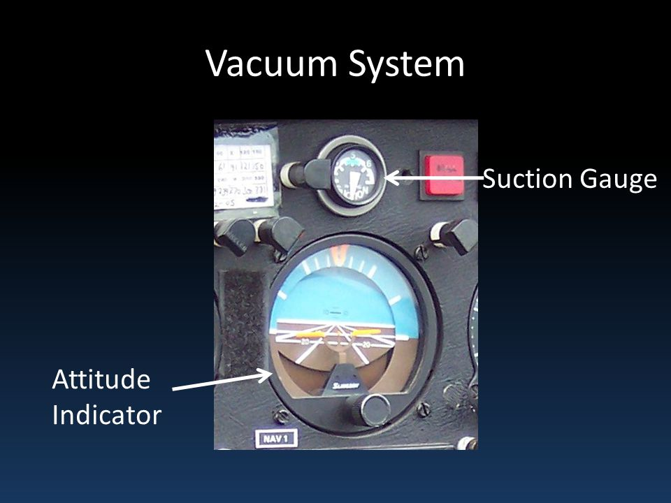 Vacuum System Suction Gauge Attitude Indicator