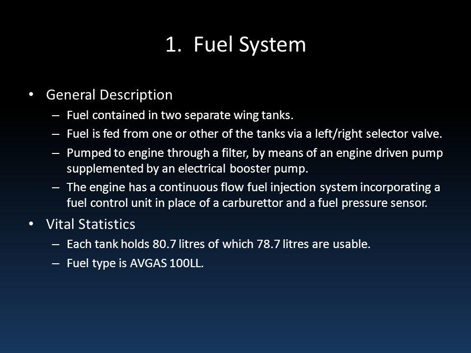 1. Fuel System General Description Vital Statistics