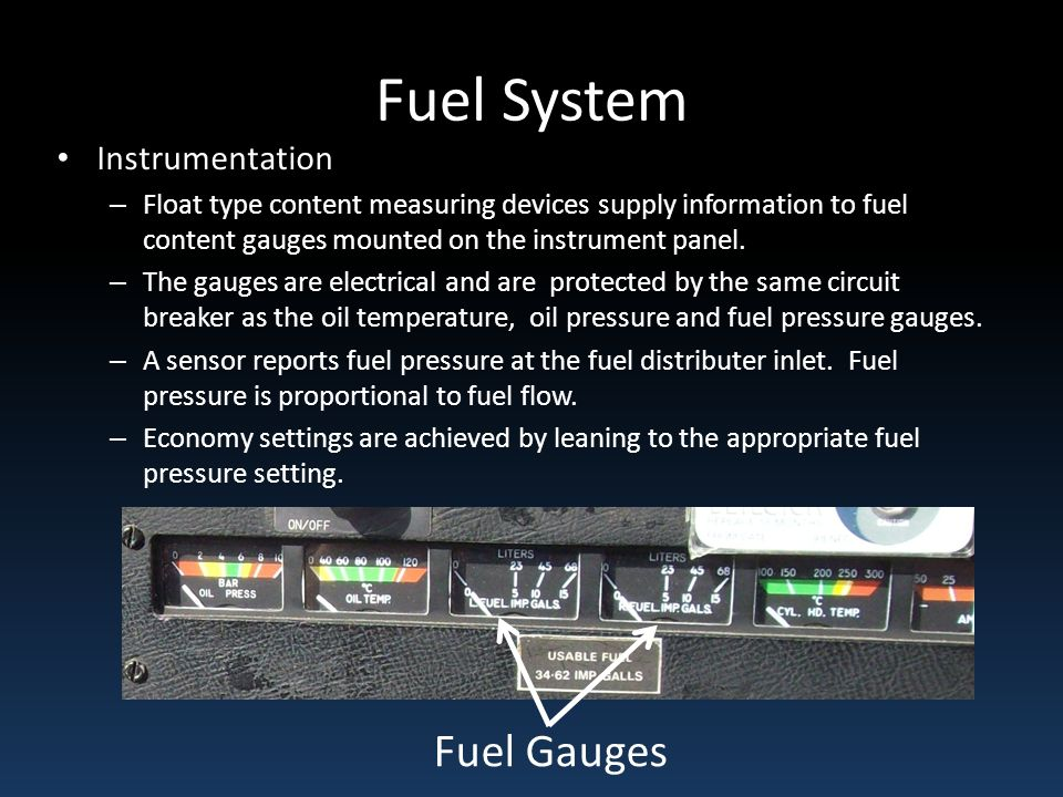 Fuel System Fuel Gauges Instrumentation