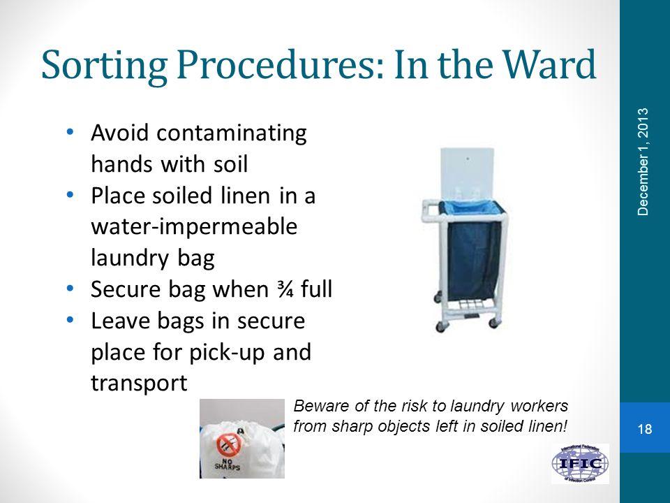 Sorting Procedures: In the Ward