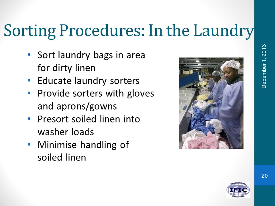 Sorting Procedures: In the Laundry