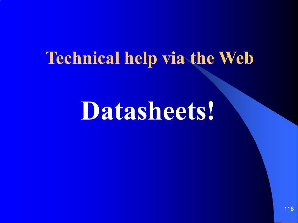 Technical help via the Web