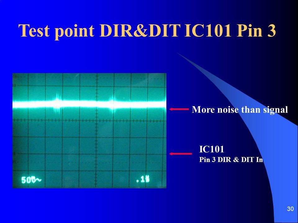 Test point DIR&DIT IC101 Pin 3