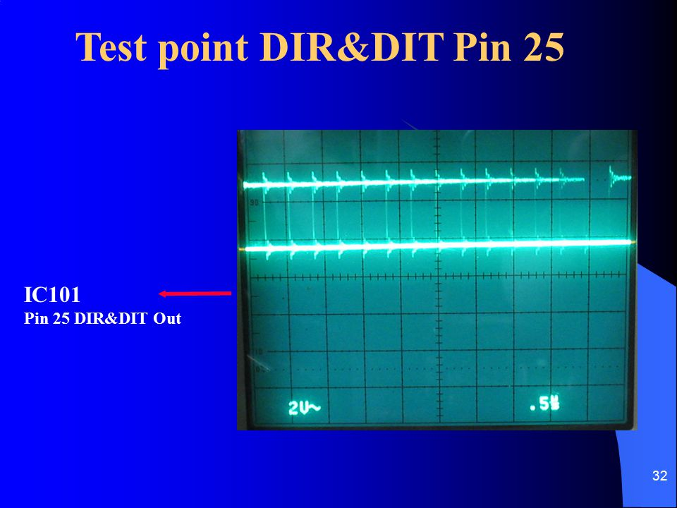 Test point DIR&DIT Pin 25 IC101 Pin 25 DIR&DIT Out
