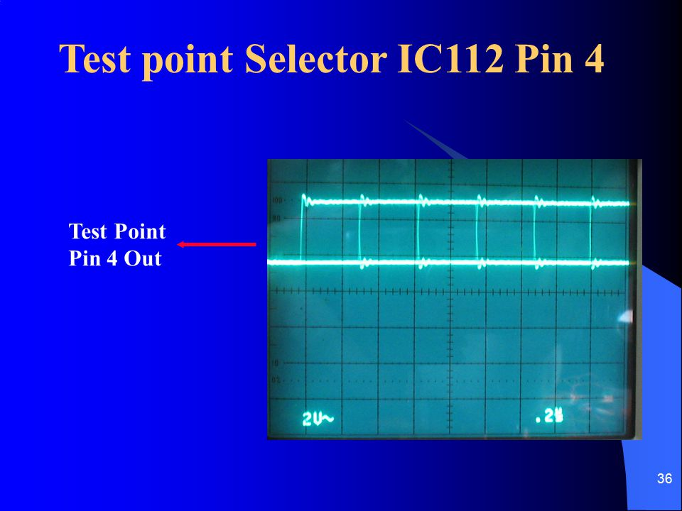 Test point Selector IC112 Pin 4