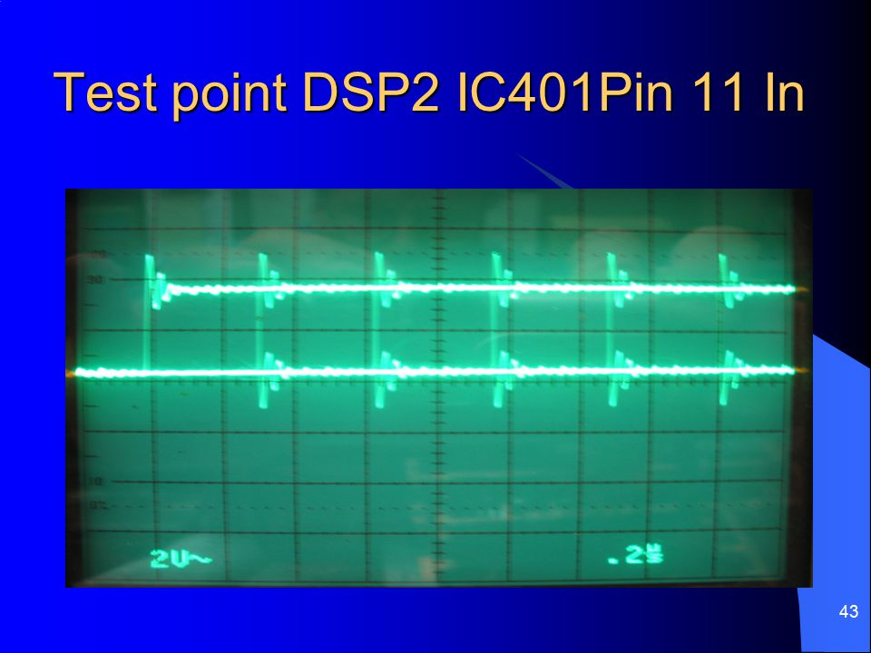 Test point DSP2 IC401Pin 11 In