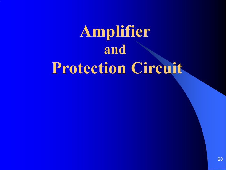 Amplifier Protection Circuit